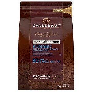 Chocolate Belga Callebaut Amargo Kumabo 80% Cacau Gotas 2,5 Kgs