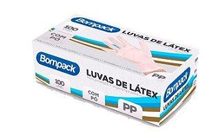 Luva Latex PP C/Pó Caixa com 100