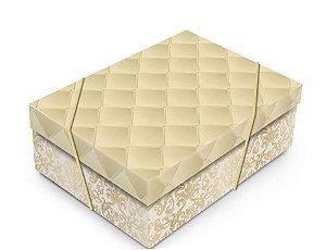 Caixa Luxuria Dourada P com Tampa 24x18x8cm (unidade)
