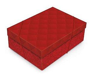 Caixa Luxuria Vermelha M com Tampa 35x25x11cm (unidade)