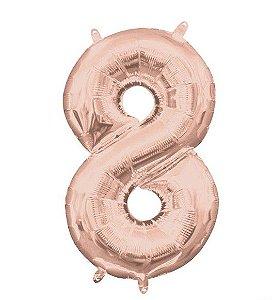 Balão Metalizado 75cm Rose N°8