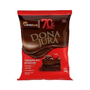 Chocolate em pó Dona Jura 70% 500gr