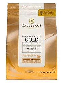 Chocolate Belga Callebaut Caramelo Gotas 2,5 Kgs