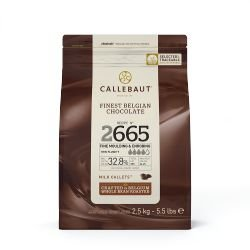 Chocolate Belga 2665 Ao Leite Callebaut Moedas 2,5kgs