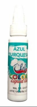 CORANTE LIQUID GEL AZUL TURQUESA 25G ICEBERG