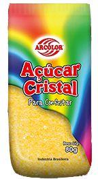 Açucar Cristal Amarelo 80 g Arcolor