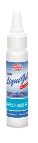Corante Arcolor Liquigel 30 g Azul Turqueza