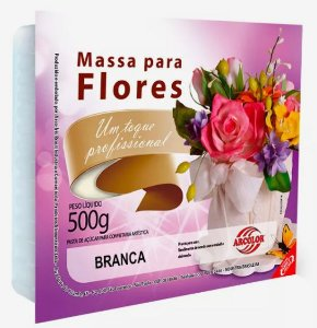 Massa para Flores  Arcolor 500 g Branca