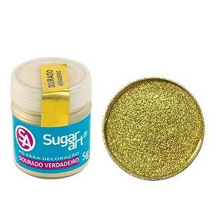 Pó p/ Decoração Sugar Art Dourado Verdadeiro 3 g