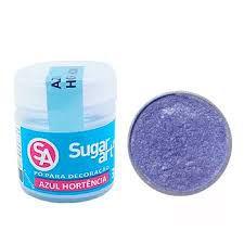 Pó p/ Decoração Sugar Art Azul Hortência 3 g