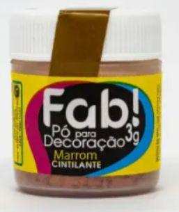 Pó p/ Decoração FAB Marrom 3g