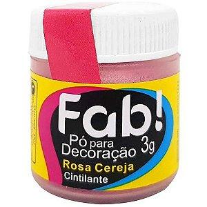 Pó p/ Decoração FAB Rosa Cereja 3g