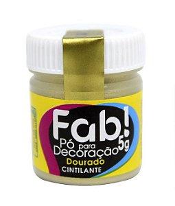 Pó p/ Decoração FAB Dourado 5g