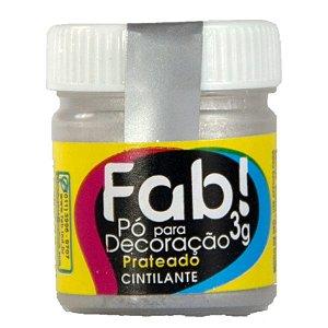Pó p/ Decoração FAB Prateado 3g