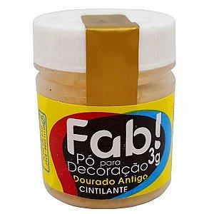 Pó p/ Decoração FAB Dourado Antigo 3g