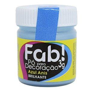 Pó p/ Decoração FAB Azul Anis 3g