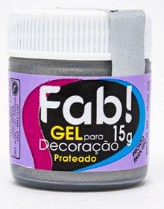 Gel p/ Decoração FAB Prateado 15g