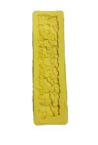 Molde Silicone Textura Floral Vila da Confeitaria