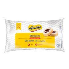 Margarina 80% Lipideos Amélia Vigor 1 Kg com Sal