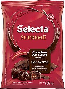 COBERTURA MEIO AMARGO SELECTA SUPREME EM GOTAS 1,01KG