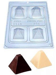 Forma de acetato especial trufa piramide