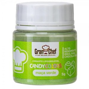 Corante Gran Chef Verde Maça Candy Colors Lipossoluvel 5 g