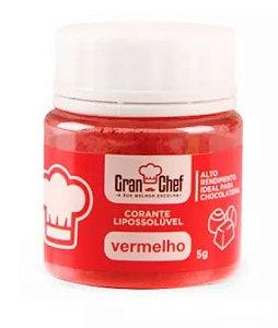 Corante Gran Chef Vermelho Lipossoluvel 5 g