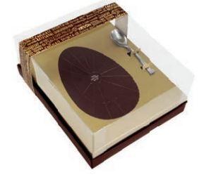 Caixa Ovo de Colher Classic Ouro 350gr DESMONTADA c/5 unid.