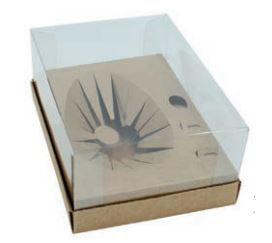 Caixa de Ovo CLASSIC 250G KRAFT - DESMONTADA C/ 10 UNID