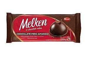 Chocolate Meio Amargo Melken Barra 1,050 Kg