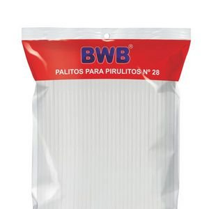 PALITOS PARA PIRULITO GRANDE - BRANCO PCT C/ 50 UND -