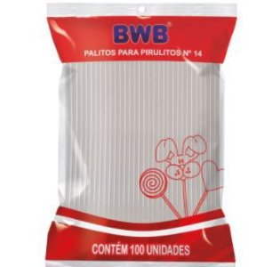 PALITOS PARA PIRULITO MEDIO N°14 - CRISTAL PCT C/100