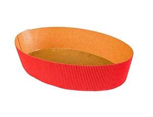 Colomba oval 500 grs. - Tam. 21,5x5cm - Vermelha - c/5