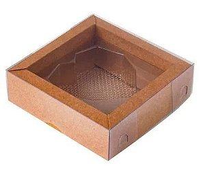 Caixa Coração Diamantado 1 Cavidade Kraft Pct c/5