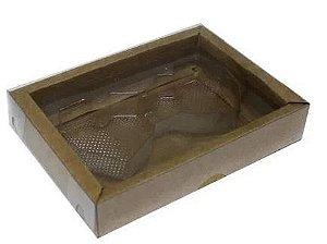 Caixa Coração Diamantado 2 Cavidades Kraft Pct  c/5