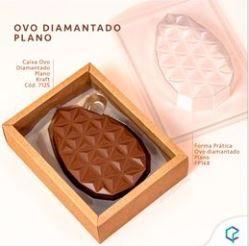 Caixa Ovo DIAMANTADO PLANO KRAFT PCT C/5
