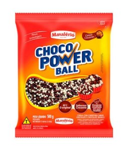 MICRO CEREAL LEITE/BRANCO CHOCO POWER BALL 500G