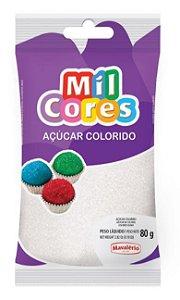 ACUCAR COLORIDO BRANCO MIL CORES 80 G