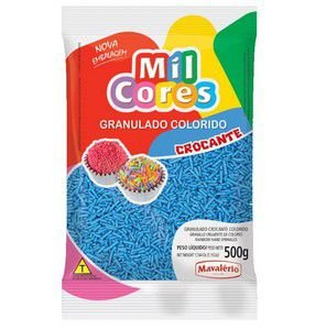 GRANULADO CROC. AZUL AQUARELA MIL CORES 500 G