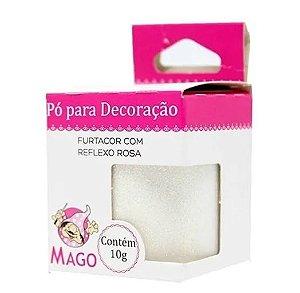 Pó p/ Decoração Mago Furtacor com Reflexo Rosa 10 g