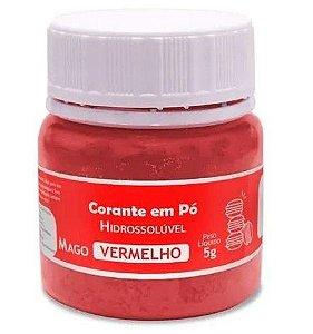 Corante Hidrossoluvel em Po Mago Vermelho 5 g