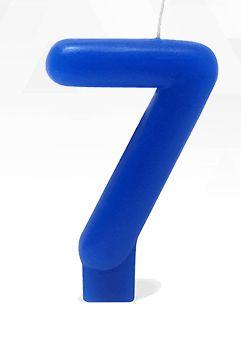 VELA AZUL NUMERO 7