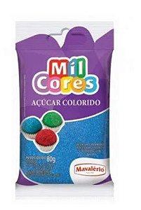 ACUCAR COLORIDO AZUL MIL CORES 80 G