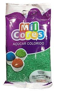 ACUCAR COLORIDO VERDE MIL CORES 80 G