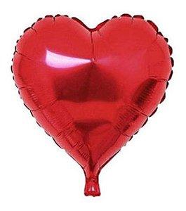 Balão Metalizado 20 - Coração Vermelho