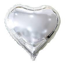Balao Metalizado 20 - Coração Prata