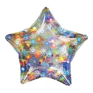 Metalizado 20 - Estrela Holográfico Fogos