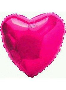 BalAo Metalizado 20 - Coração Rosa