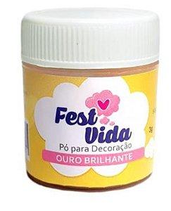 PO DECORATIVO FEST VIDA OURO LEVE 5G