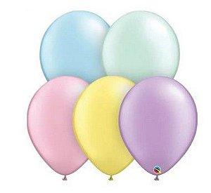 Balão 9 Sortido Qualatex (venda por unidade)